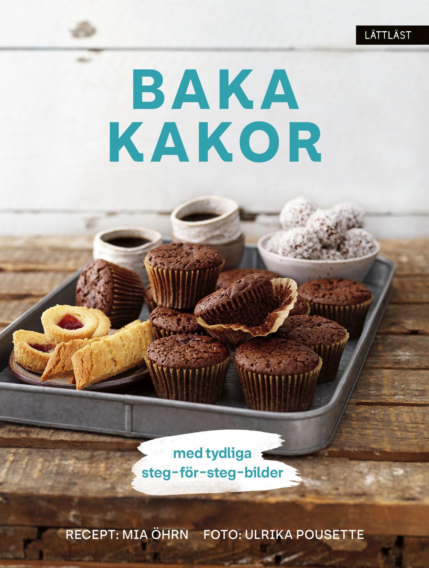 Bild på chokladmuffins och andra bakverk.